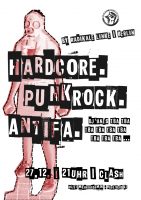 Clash Flyer: »Party: Hardcore - Punkrock - Antifa«