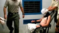 """To prevent self-harm"" a child is hooded and strapped to a mechanical restraint chair in Northern Territory youth detention, a method legislated by the Territory's parliament."